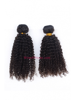 Natural Color Kinky Curl Brazilian Virgin Hair Weave 2pcs Bundle[WB259]