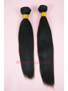 Natural Color Yaki Straight Brazilian Virgin Hair Weave 2pcs Bundle[WB40]