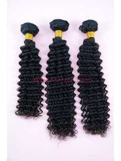 Natural Color Water Wave Brazilian Virgin Hair Weave 3pcs Bundle[WB26]