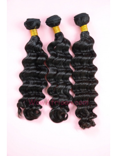 Natural Color Brazilian Wave Brazilian Virgin Hair Weave 3pcs Bundle[WB04]