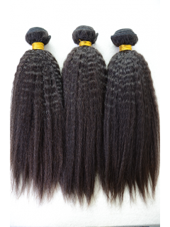 Indian Virgin Natural Color Italian Yaki Hair Weave 3pcs Bundle[WB252]