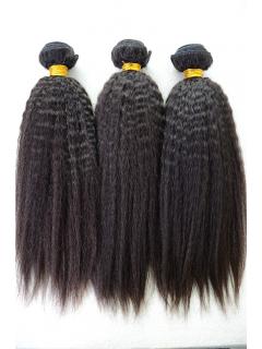 Indian Virgin Natural Color Italian Yaki Hair Weave 3pcs Bundle[WB252]