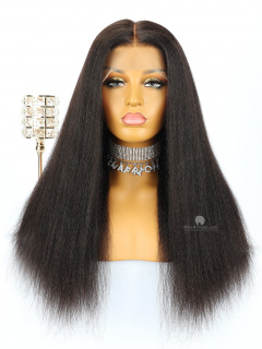 Thick Density Kinky Straight 13X6in Lace Front Human Virgin Wig[HW08]