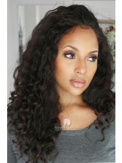 Retro Loose Curls Virgin Brazilian Hair Glueless Full Lace Wigs[GFL17M]