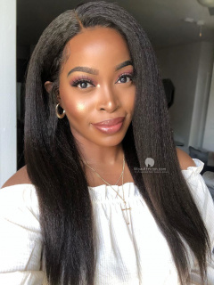 130% Density 360 Lace Wig Italian Yaki Malaysian Virgin Hair [TLW42]
