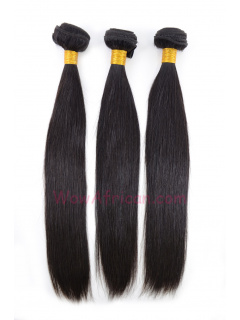 Natural Color Silky Straight Brazilian Virgin Hair Weave 3pcs Bundle[WB01]