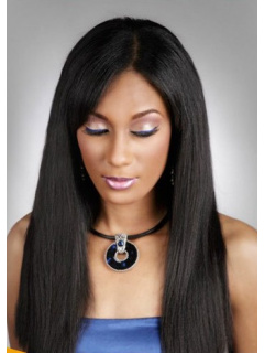 5in Front Lace Wigs Yaki Straight Virgin Brazilian Hair [LFW502]
