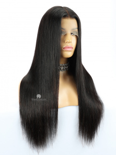 13X6in Thick Density Silky Straight HD Lace Human Virgin Wig [HW01]