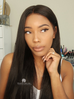 Indian remy hair silky stright 360 wig