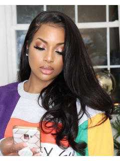 360 Lace Wig 180% Density Yaki Straight Indian Hair [TLW17]