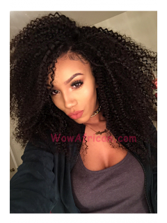 5in Front Lace Wigs Water Wave Virgin Brazilian Hair [LFW504]