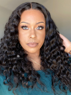 13X6in Thick Density Deep Wave HD Lace Human Virgin Wig [HW05]