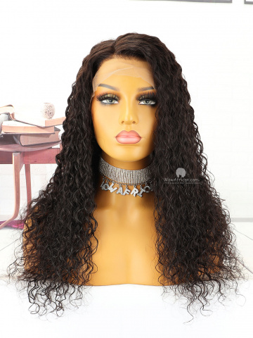 20in #1B Off Black Wave Brazilian Virgin Hair Full Lace Wig[MS159]