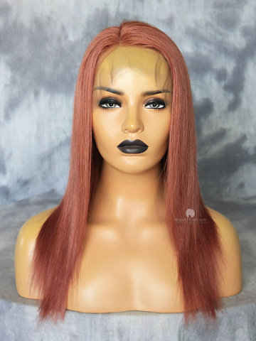 14in Blonde 180% Density Silky Straight Brazilian Virgin 360 Lace Wig [MS45]