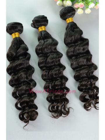 Virgin Peruvian Hair Weave 3pcs Bundle Natural Color Brazilian Wave[WB61]