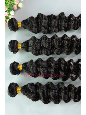 Peruvian Virgin Hair Weave 4pcs BundleNatural Color Brazilian Wave[WB72]