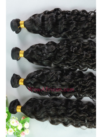 Peruvian Virgin Hair Weave 4pcs Bundle Natural Color Brazilian Curl[WB69]