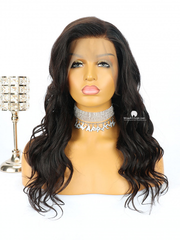 150% Density 360 Lace Wig Side Bang Wavy Brazilian Virgin Hair [TLW30]