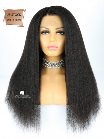 American Stock-150% Density 360 Lace Wig Italian Yaki Brazilian Virgin Hair [TLW22US]
