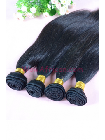 Malaysian Virgin Hair Weave Natural Color Silky Straight 4pcs Bundles