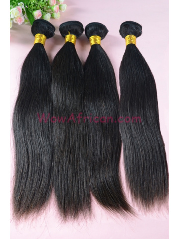 Indian Virgin Hair Weave Natural Color Silky Straight 4pcs Bundles