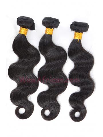 Brazilian Virgin Hair Weave 3pcs Bundle Natural Color Body Wave