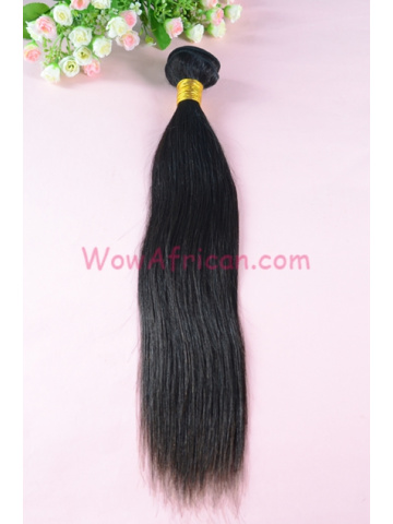 Indian Virgin Hair Weave Natural Color Silky Straight