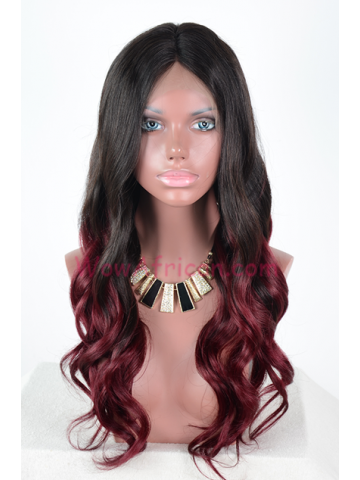 Ashanti Ombre Red Hair Wavy Lace Wigs[CLW40]