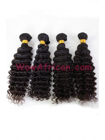 Brazilian Virgin Hair Weave Natural Color Deep Wave 4pcs Bundle