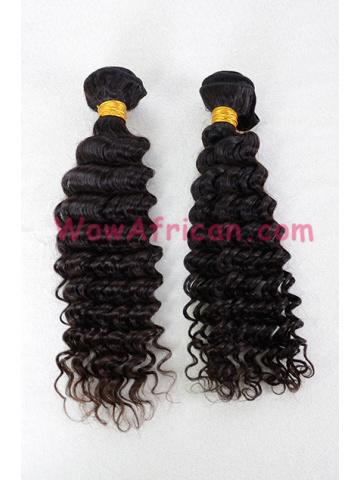 Brazilian Virgin Hair Weave Natural Color Deep Wave 2pcs Bundle