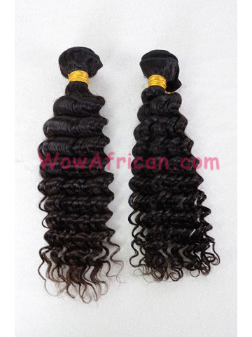 European Virgin Hair Weave Natural Color Deep Wave 2pcs Bundle[WB215]