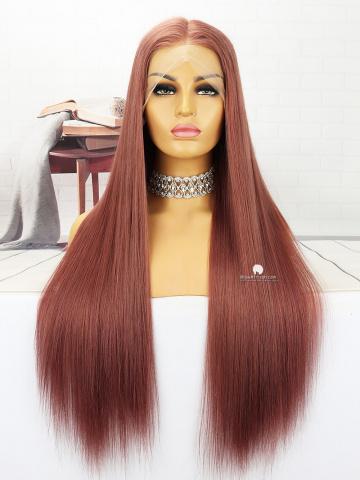 26in #33 Silky Straight Brazilian Full Lace Wig[MS156]