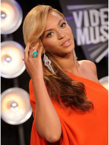 Beyonce Ombre Brazilian Hair Wavy Lace Wig[CLW14]