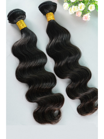 Natural Color Body Wave Peruvian Virgin Hair Weave 2pcs Bundle[WB228]