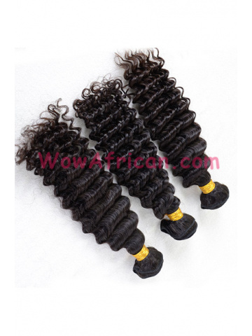 Indian Virgin Deep Wave Natural Color Hair Weave 3pcs Bundle[WB256]