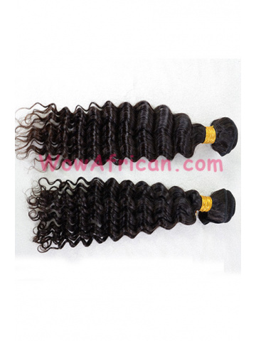 Indian Virgin Hair Natural Color Deep Wave 2pcs Bundle[WB255]