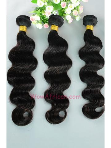 Peruvian Virgin Hair Weave 3pcs Bundle Natural Color Body Wave[WB66]