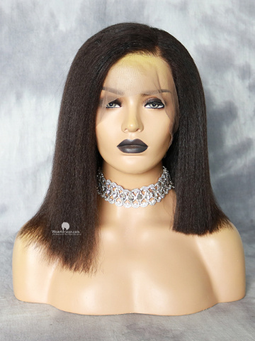 Kinky Straight Brazilian Virgin 360 Bob Wig [MS08]