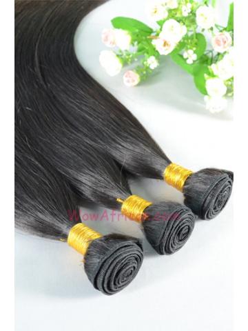 Virgin Peruvian Hair Weave 3pcs Bundle Natural Color Silky Straight[WB59]