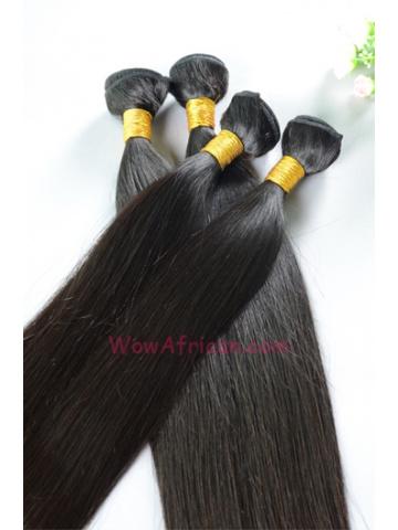 Virgin Peruvian Hair Weave 4pcs Bundle Natural Color Silky Straight [WB68]