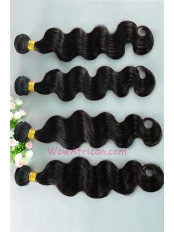 Peruvian Virgin Hair Weave 4pcs Bundle Natural Color Body Wave[WB71]
