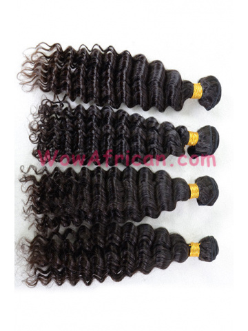 Indian Virgin Hair Natural Color Deep Wave 4pcs Bundle[WB257]
