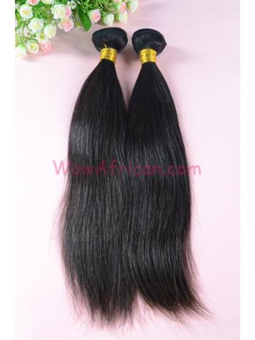 Indian Virgin Hair Weave Natural Color Silky Straight 2pcs Bundles