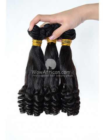 Brazilian Virgin Hair Funmi Hair Weave Classic Eurasian Curl 3pcs Bundle