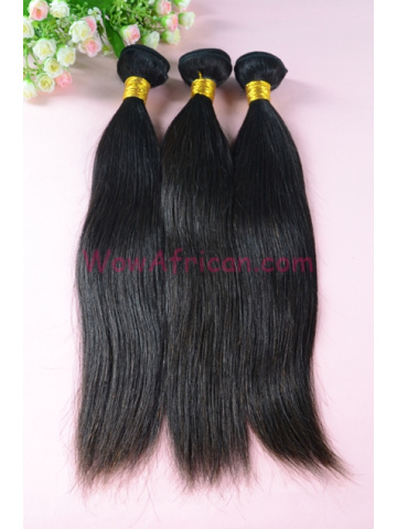 Malaysian Virgin Hair Weave Natural Color Silky Straight 3pcs Bundles