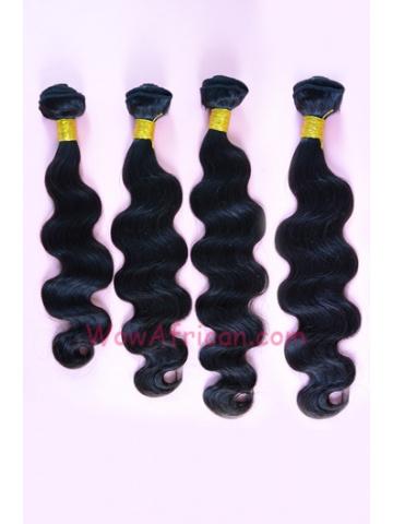 Natural Color Body Wave Indian Virgin Hair Weave 4pcs Bundle[WB51]