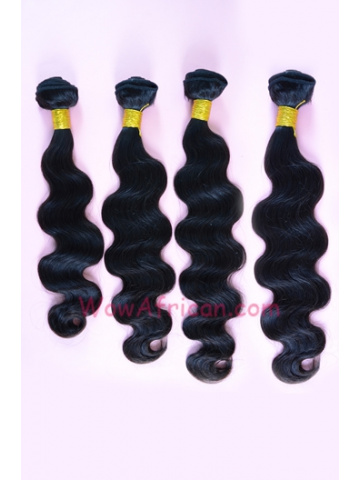 Malaysian Virgin Hair Weave 4pcs Bundle Natural Color Body Wave [WB92]
