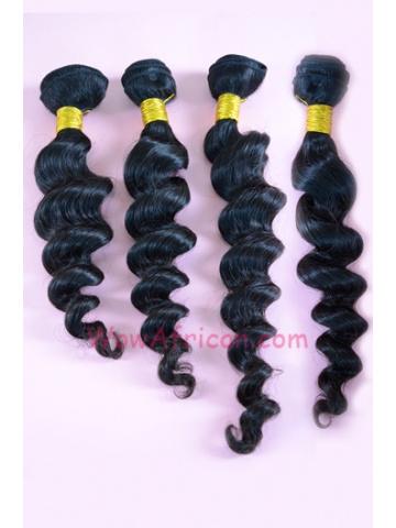 Indian Virgin Hair Weave 4pcs Bundle Natural Color Milan Curl[WB89]