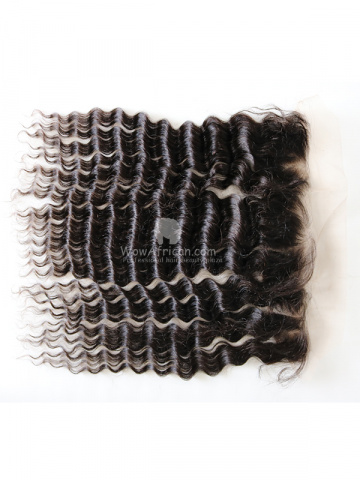 Natural Color Deep Wave Brazilian Virgin Hair Lace Frontal[CSL23]