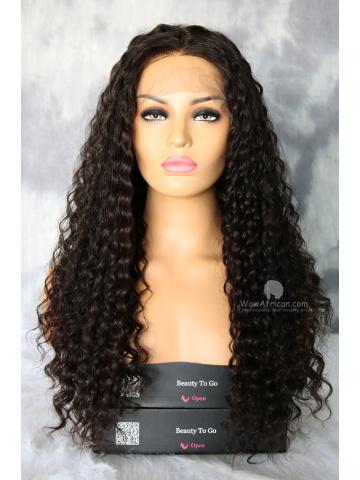 Natural Color Deep Wave Virgin Brazilian Lace Front Wig[WCS150]